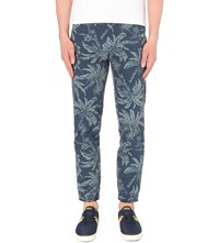 Ralph Lauren Straight Printed Jogging Trousers 32 Blue