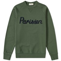 Maison Kitsune Parisien Crew Sweat Green