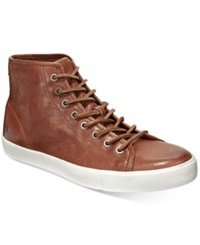 Frye Men's Brett High Top Sneakers Men's Shoes Cognac