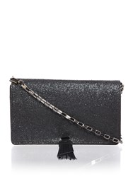 Just Cavalli Matt Glittered Black Crossbody Bag Black