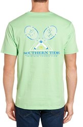 Southern Tide Men's 'Rising Skipjack' Graphic T Shirt Summer Green