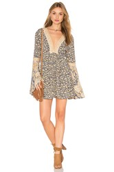 Free People Once Upon A Summertime Romper Blue