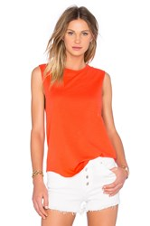 Tyler Jacobs Crew Neck Cut Off Tank Orange