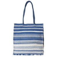White Stuff Oversized Tote Bag Blue Multi