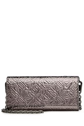 Kenzo Logo Embossed Wallet On Chain Silver