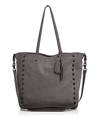 Loeffler Randall Studded Tote Dark Gray Black