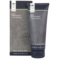 Heathcote And Ivory Fine Grooming Lime And Basil Hair And Body Wash 250Ml