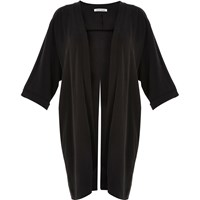River Island Womens Ri Plus Black Split Back Kimono
