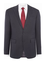 Polo Ralph Lauren Polo1 Single Breasted Pinstripe Two Piece Suit Charcoal