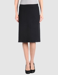 Noa Noa Knee Length Skirts Black