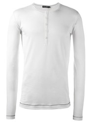 Dolce And Gabbana Henley Top White