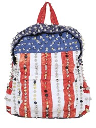 Patricia Field Art Fashion Stud Muffin American Studded Backpack