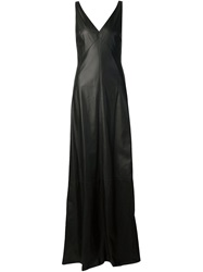 Vera Wang Plunging Neck Gown Black