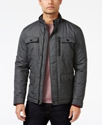 Alfani Men's Mock Collar Full Zip Jacket Only At Macy's Grey Heather