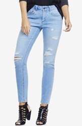 Women's Two By Vince Camuto Ripped Skinny Jeans Rip Blue