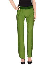 Dirk Bikkembergs Trousers Casual Trousers Women Green