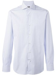Barba Longsleeved Classic Shirt Blue