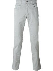 Fay Slim Fit Trousers Grey