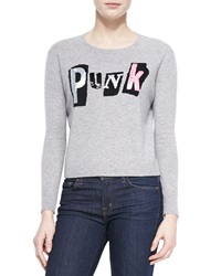 Autumn Cashmere Cashmere Sequined Punk Sweater