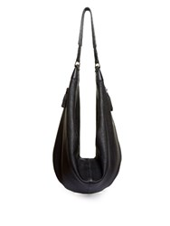 The Row Sling Beaded Tassel Leather Bag Black