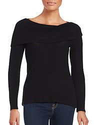 Red Haute Solid Off The Shoulder Sweater Black