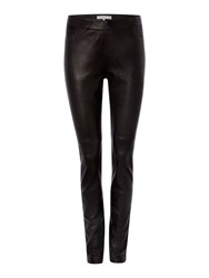 Gray And Willow Klara Leather Stretch Leggings Black