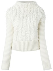 Cedric Charlier Ribbed Jumper Nude And Neutrals