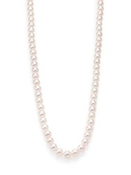 Mikimoto Essential 7Mm 8Mm White Cultured Akoya Pearl And 18K White Gold Strand Necklace 32