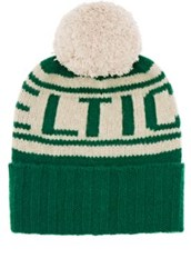 The Elder Statesman X Nba Men's Celtics Cashmere Pom Pom Beanie Green