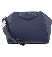 Givenchy Antigona Soft Grained Leather Cosmetic Case Deep Blue