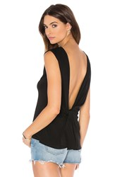 Bcbgmaxazria Thera Drape Back Tank Black