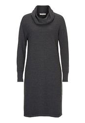 Betty Barclay Ribbed Knitted Dress Grey