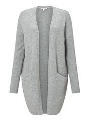Miss Selfridge Grey Slouchy Knitted Cardigan