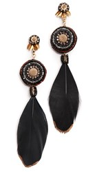 Deepa Gurnani Ester Earrings Gold Black