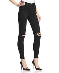 Nobody Cult Skinny Ankle Jeans In Raw Black
