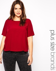 Alice And You Boxy Tee Burgundy