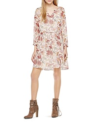 Two By Vince Camuto Floral Print Babydoll Dress