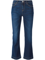 Love Moschino Cropped Flared Jeans Blue