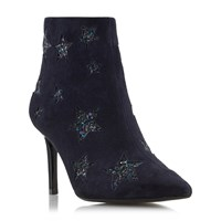 Dune Orbit Glitter Star Ankle Boots Navy