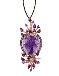 Levian Amethyst And 14K Strawberry Gold Pendant Necklace Amethyst Rose Gold