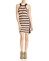 Free People Retro Ruby Stripe Crochet Dress Black Combo