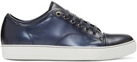 Lanvin Navy Patent Leather Sneakers