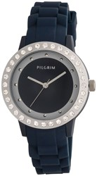 Pilgrim Blue And Silver Plated Watch Blue