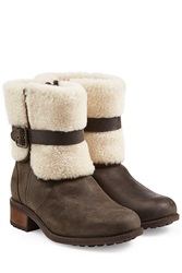 Ugg Australia Blayre Ii Suede Ankle Boots Brown