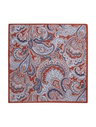 Paul Costelloe Portland Paisley Wool Pocket Square Rust