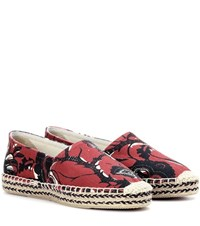 Isabel Marant Etoile Canaee Printed Espadrilles Red