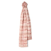 Jaeger Splatter Tweed Silk Scarf Blush Red