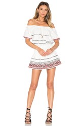 Piper Butuan Smocked Off The Shoulder Mini Dress White