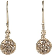 Fabrizio Riva Circular Drop Earrings Colorless