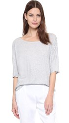 Vince 3 4 Sleeve Dolman Top Heather Grey